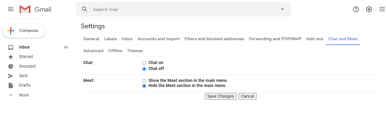 How To Remove Google Meet From The Gmail Sidebar